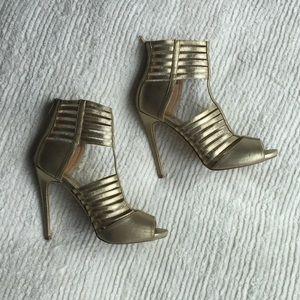 Strappy Gold Heels 9.5